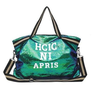Sac GOSSIP GIRL de la COLLECTION CHIC IN PARIS - vert - sacs sport voyage - La boutique by c.