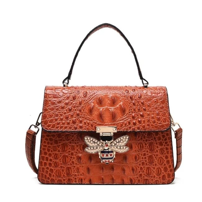 Sac MELLIFERA de la COLLECTION COUTURE - cognac - sacs - La boutique by c.