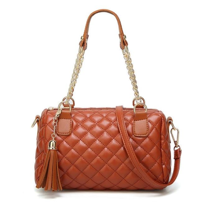 Sac MONTORGUEIL de la COLLECTION PARISIENNE - cognac - sacs - La boutique by c.