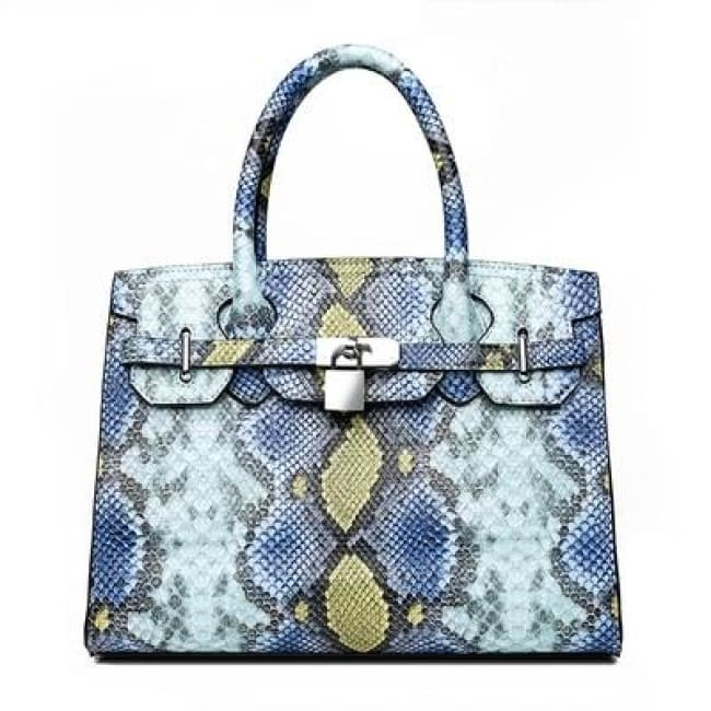 Sac PYTHON de la COLLECTION MONACO - bleu - sacs - La boutique by c.
