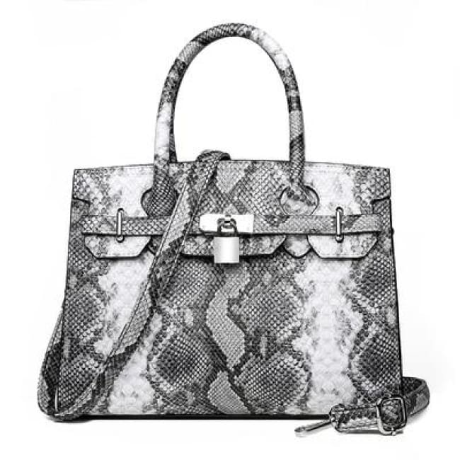 Sac PYTHON de la COLLECTION MONACO - gris - sacs - La boutique by c.