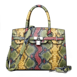 Sac PYTHON de la COLLECTION MONACO - jaune - sacs - La boutique by c.