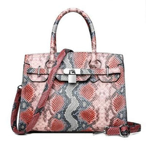 Sac PYTHON de la COLLECTION MONACO - rose - sacs - La boutique by c.