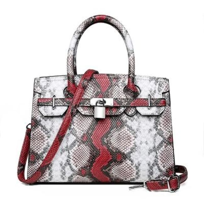 Sac PYTHON de la COLLECTION MONACO - rouge - sacs - La boutique by c.