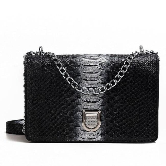 Sac SORRENTE de la COLLECTION INNAMORATA - noir argent / petit - sacs - La boutique by c.