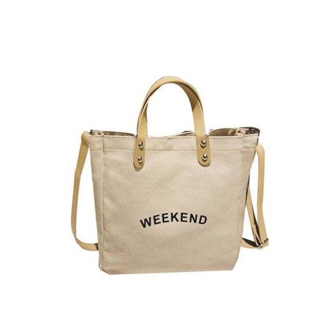 Sac WEEK-END de la COLLECTION DUO PARFAIT - beige clair / grand - sacs - La boutique by c.