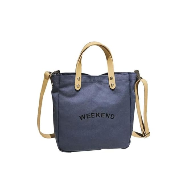 Sac WEEK-END de la COLLECTION DUO PARFAIT - bleu / grand - sacs - La boutique by c.