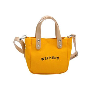 Sac WEEK-END de la COLLECTION DUO PARFAIT - jaune / grand - sacs - La boutique by c.