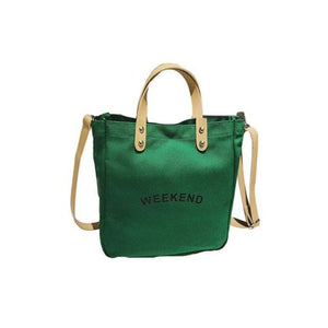 Sac WEEK-END de la COLLECTION DUO PARFAIT - vert / grand - sacs - La boutique by c.