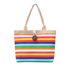 Load image into Gallery viewer, Rainbow Stripes Tote Bag