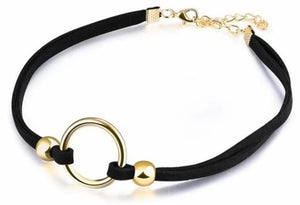 SUSENSTONE Necklace Stretch Velvet Classic