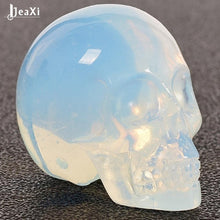 Load image into Gallery viewer, Natural stone skull figurine Crystal Carved