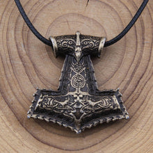 Load image into Gallery viewer, Vikings  Necklace Thor's Hammer