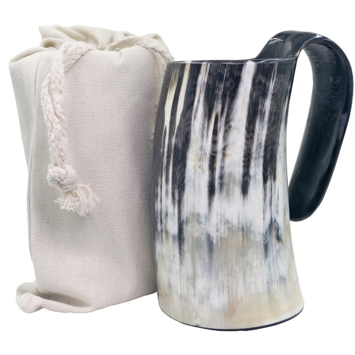 Hand Made Ox Buffalo Horn Mug Viking