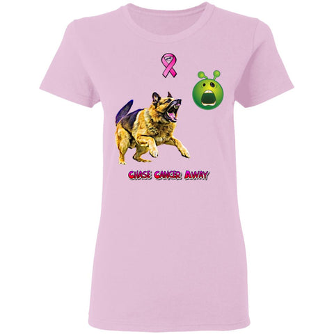 Chase Cancer Away Ladies T-Shirt