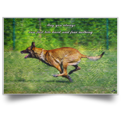 Run Fast, Bite Hard, and Fear Nothing Paint Poster