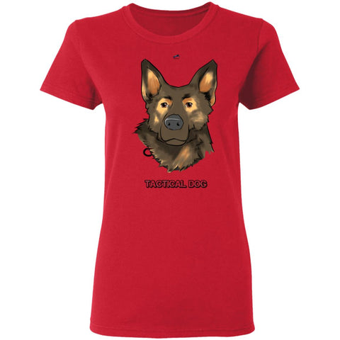 Tactical Dog Toon Ladies T-Shirt