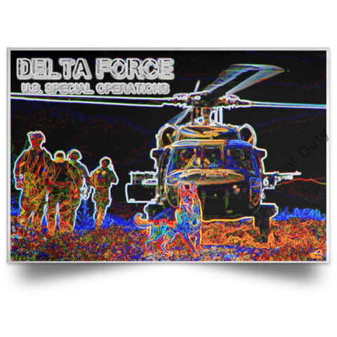 Delta Force - Gear Up Glow Poster White / 18 X 12 Housewares