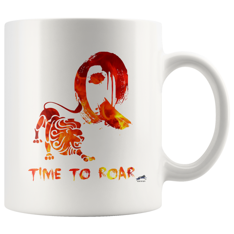 Time to Roar Q Mug