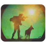 US Army Military Working Dog Team - Night Operations Mouse Pad