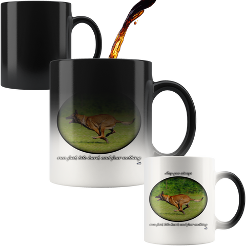 Run Fast, Bite Hard, and Fear Nothing Magic Mug - Color Changing