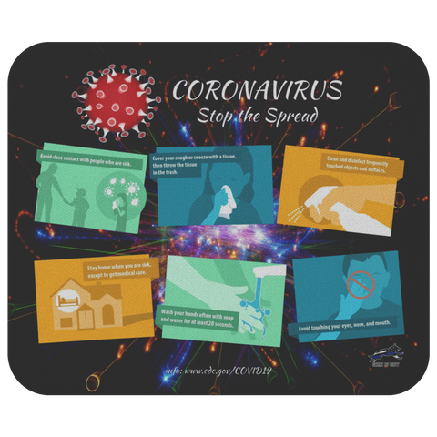 Coronavirus Prevention Guidance Mouse Pad