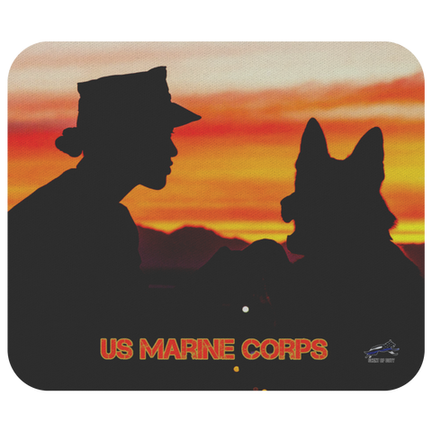 US Marine Corps MWD Team 1 Mouse Pad