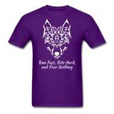 Run Fast T-shirt - purple