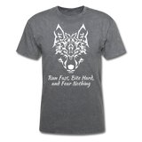 Run Fast T-shirt - mineral charcoal gray