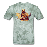 Fight T-Shirt - military green tie dye