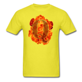 Q on Fire T-Shirt - yellow