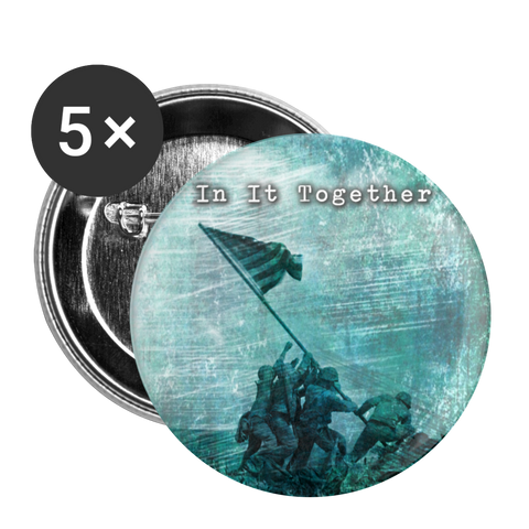 In It Together Button large 2.2'' (5-pack) - white