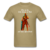 Full Armor of God T-Shirt 2 - khaki