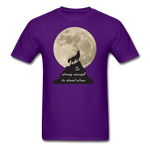 Wolf Strong T-Shirt - purple