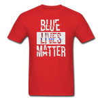 Blue Lives Matter T-Shirt - red