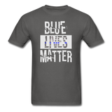 Blue Lives Matter T-Shirt - charcoal