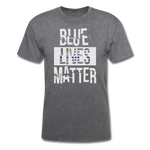 Blue Lives Matter T-Shirt - mineral charcoal gray