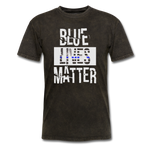 Blue Lives Matter T-Shirt - mineral black