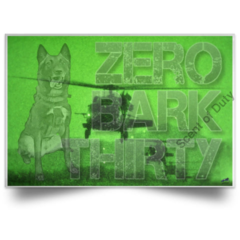 Zero Bark Thirty Night Vision Poster White / 18 X 12 Housewares