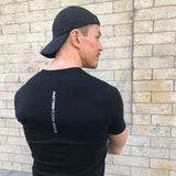 Men's Black Scribble Kettlebell Tee