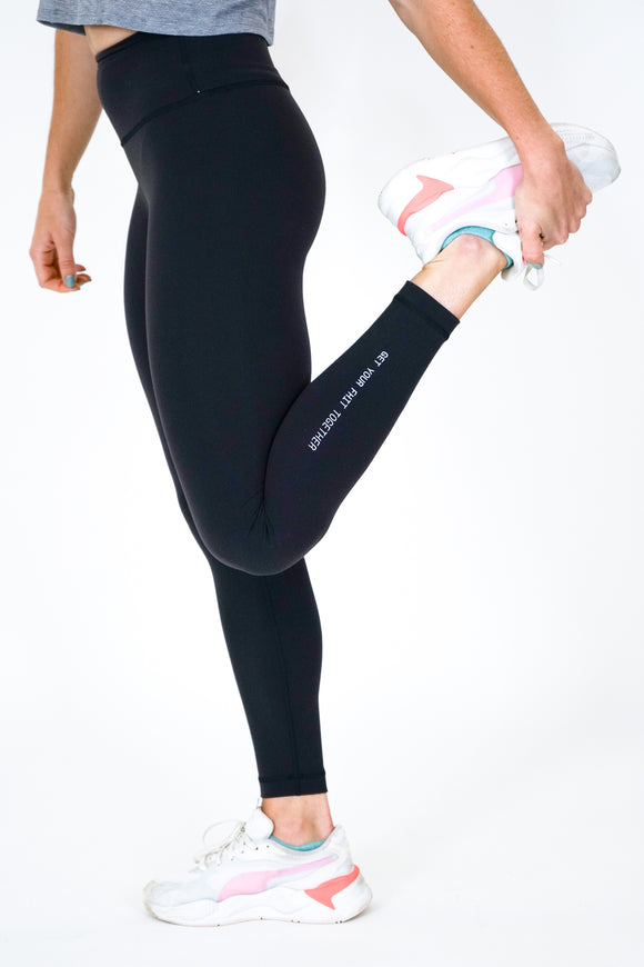Lulu Lemon Black Wunder Train High-Rise Tight 25
