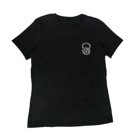 Women's Black Scribble Kettlebell Tee