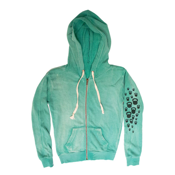 Women's Swing Big Mint Zip Up Sweatshirt