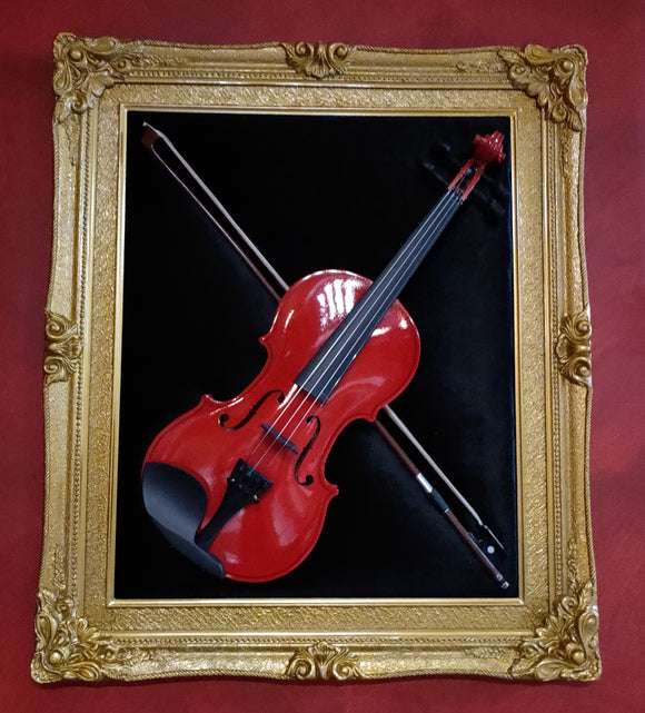 Framed Violin- Wall Sculpture