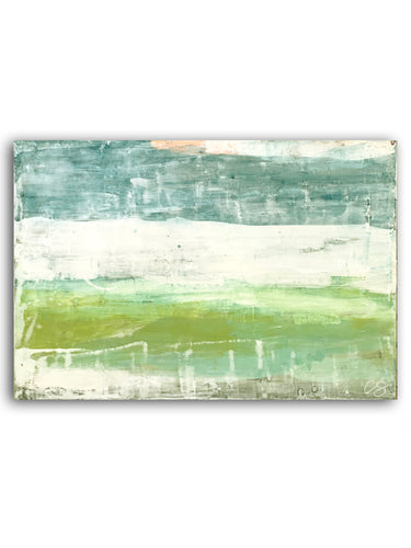Blue and Green Abstract Painting