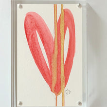 Load image into Gallery viewer, Acrylic Block Red Heart Painting
