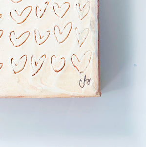 Etched Hearts Painting