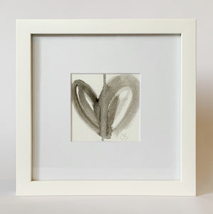 Framed Acrylic Heart Painting