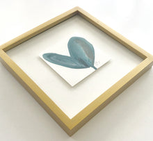 Load image into Gallery viewer, Original Gold Wood Framed Blue Heart Painting