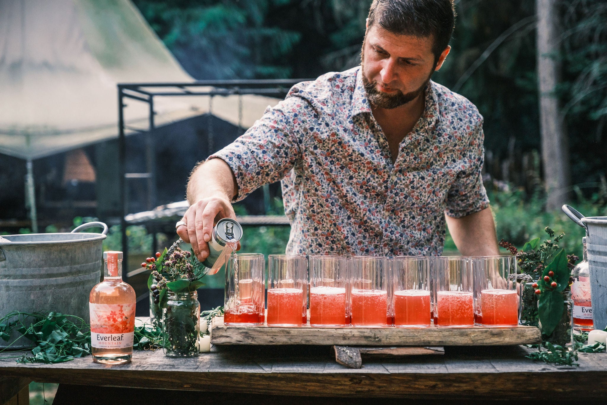 Paolo Tonellotto, making our Everleaf cocktails